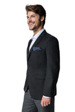 "Load image into Gallery viewer, Paul Betenly ""Sandro"" Black Solid Blazer"