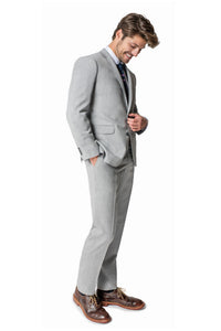 "Paul Betenly ""Thomas"" Light Grey Solid Suit"