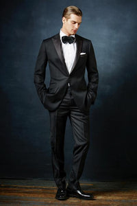 """Rico"" Black 1-Button Peak Tuxedo"