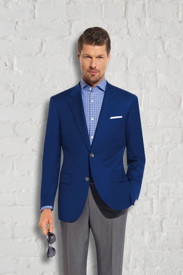 Prive French Blue Blazer With Mother Of Pearl Buttons