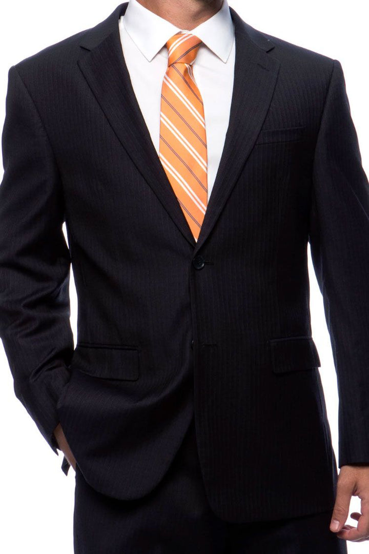Prontomoda Black Stripe Suit