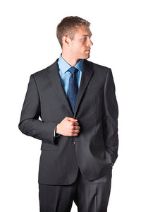 Prontomoda Charcoal Stripe Suit