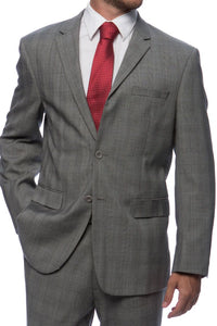 Prontomoda Glen Plaid Grey Suit