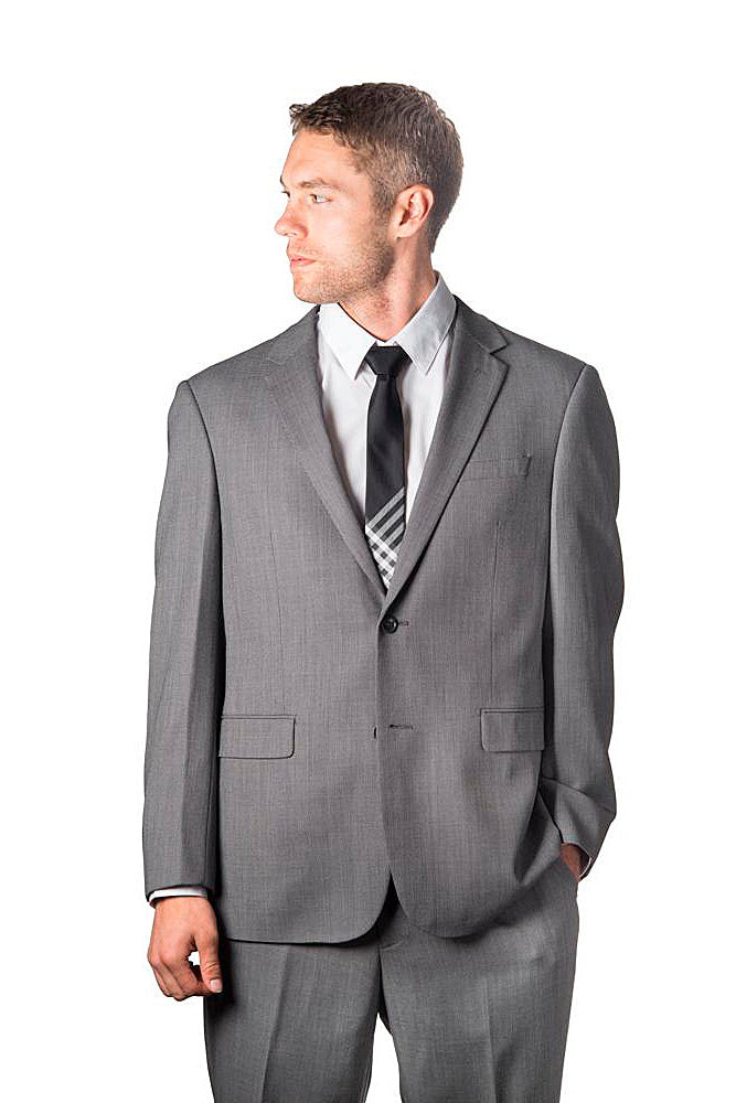 Prontomoda Sharkskin Grey Suit