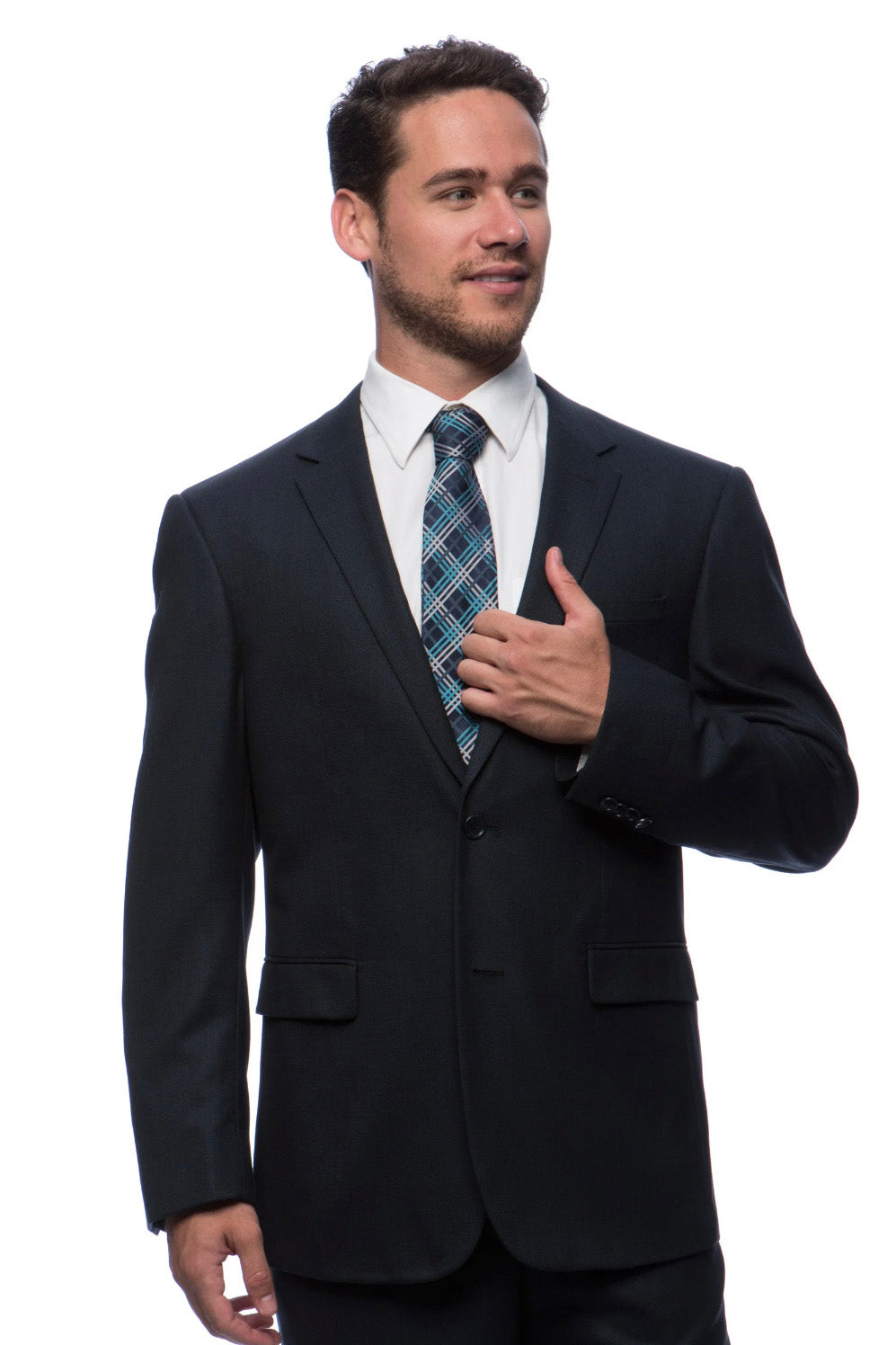 Prontomoda Birdseye Navy Suit