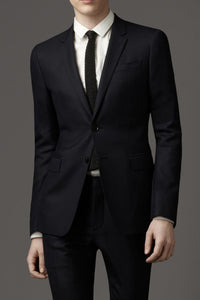 Prontomoda Solid Black Suit