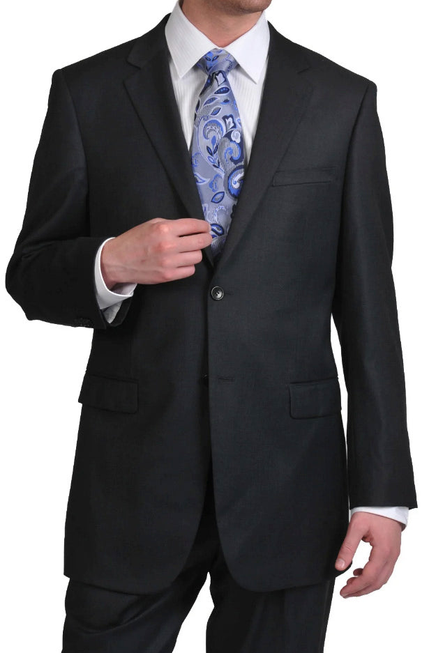 Prontomoda Solid Charcoal Suit
