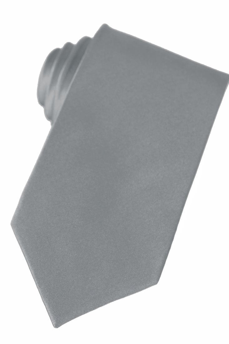 Grey Silk Necktie