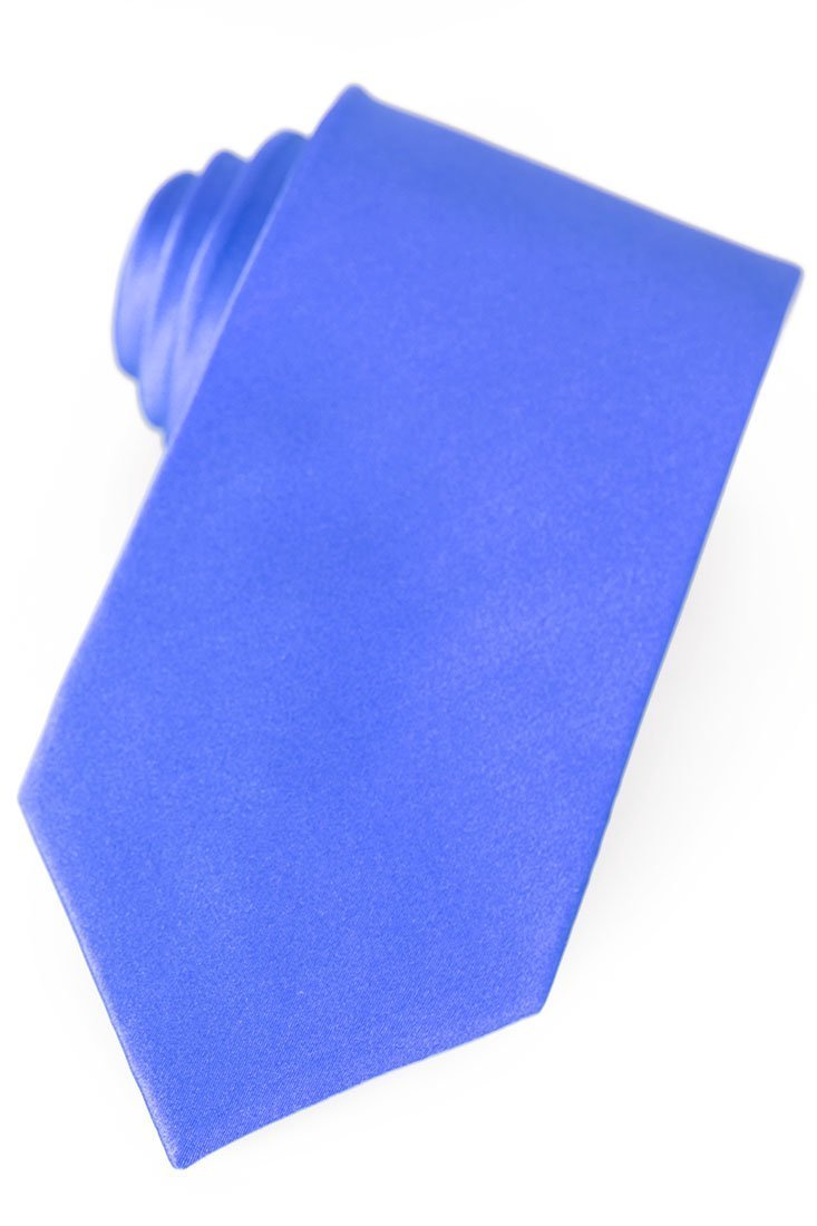 French Blue Silk Necktie