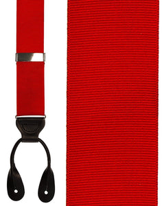 """Red Grosgraine Ribbon II"" Suspenders"