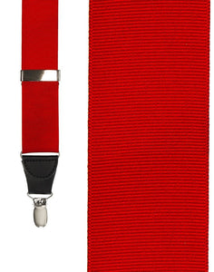 """Red Grosgraine Ribbon"" Suspenders"