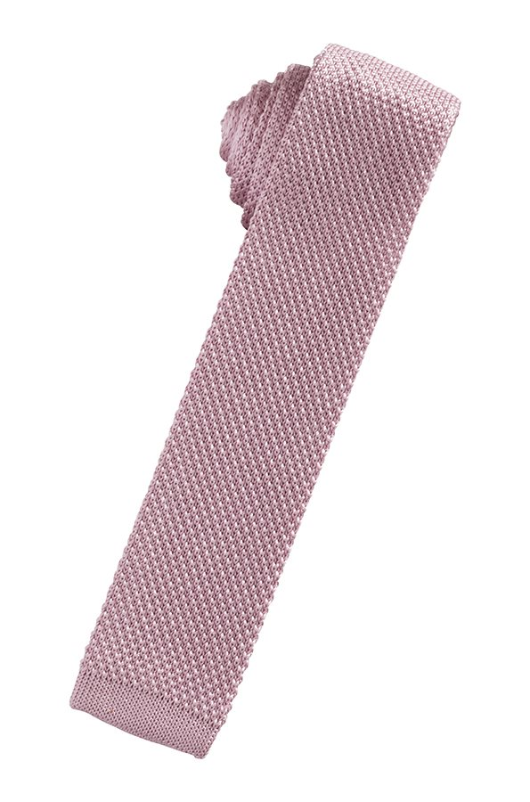 Rose Silk Knit Necktie