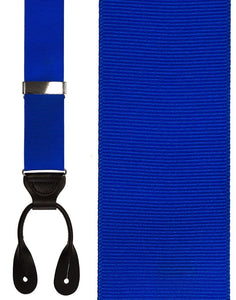"""Royal Blue Grosgraine Ribbon II"" Suspenders"