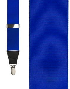"""Royal Blue Grosgraine Ribbon"" Suspenders"