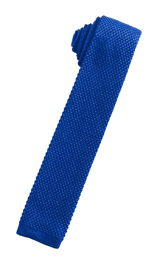 Royal Blue Silk Knit Necktie