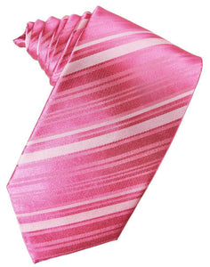 Bubblegum Striped Silk Necktie
