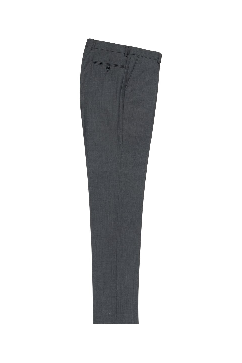 Tiglio Dark Grey Birdseye Flat Front Dress Pants
