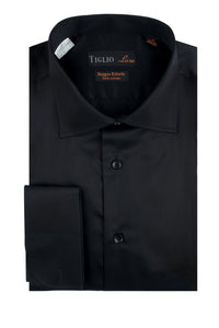 "Tiglio ""Genova RC"" Black Dress Shirt"