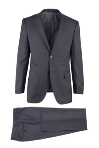"Tiglio ""Novello"" Dark Grey Birdseye Suit"