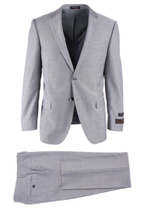 "Tiglio ""Novello"" Light Grey Herringbone Suit"