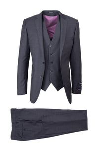 "Tiglio ""Sienna"" Charcoal Grey 3-Piece Slim Fit Suit"