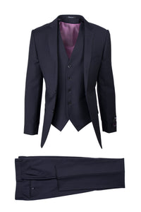 "Tiglio ""Sienna"" Navy 3-Piece Slim Fit Suit"