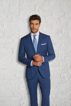 Load image into Gallery viewer, Trend French Blue Sharkskin Suit