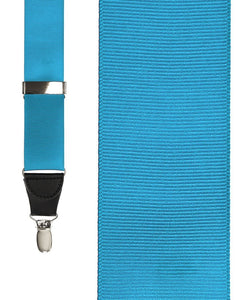 """Turquoise Grosgraine Ribbon"" Suspenders"