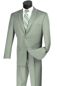 "Vinci ""Lucca"" Light Sage Slim Fit Suit"