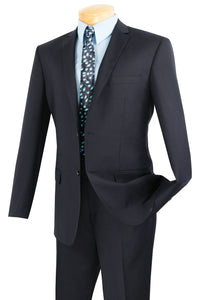 "Vinci ""Lucca"" Navy Slim Fit Suit"