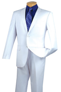 "Vinci ""Lucca"" White Slim Fit Suit"
