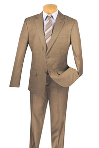 "Vinci ""Massimo"" Khaki Wool Slim Fit Suit"
