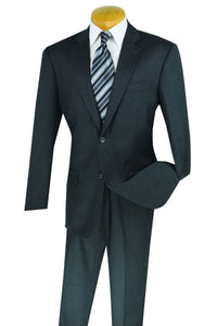 "Vinci ""Paolo"" Charcoal Wool Suit"