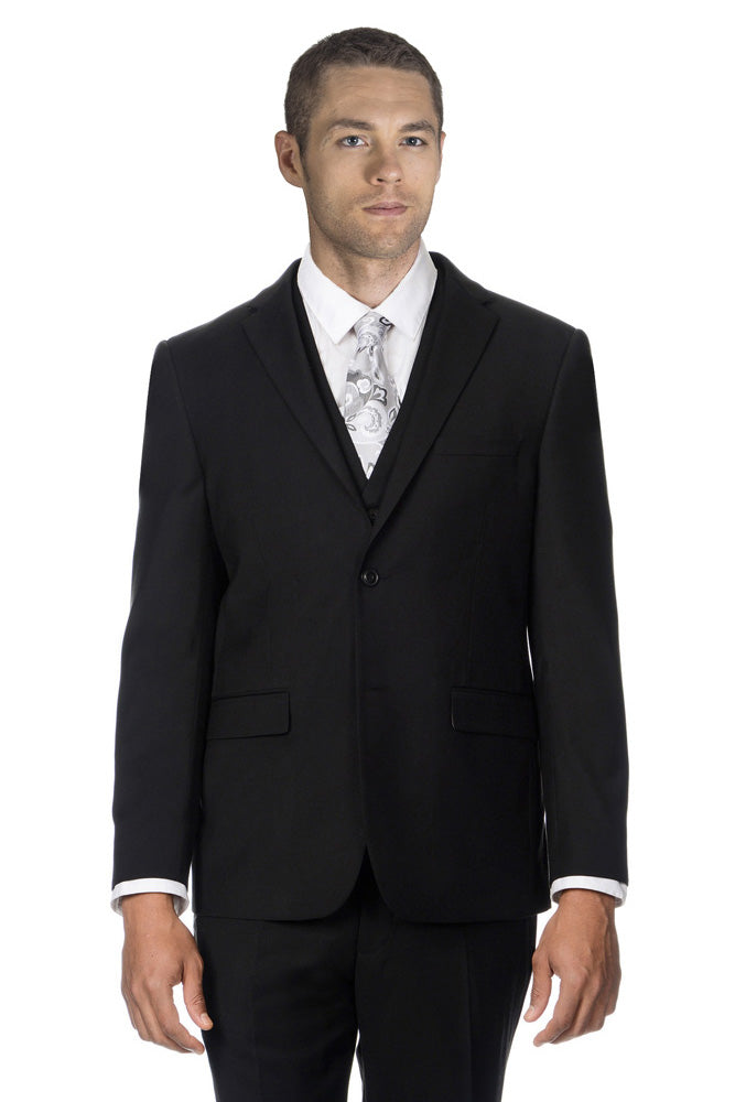 West End Solid Black Suit