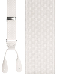"""White Checkers"" Suspenders"