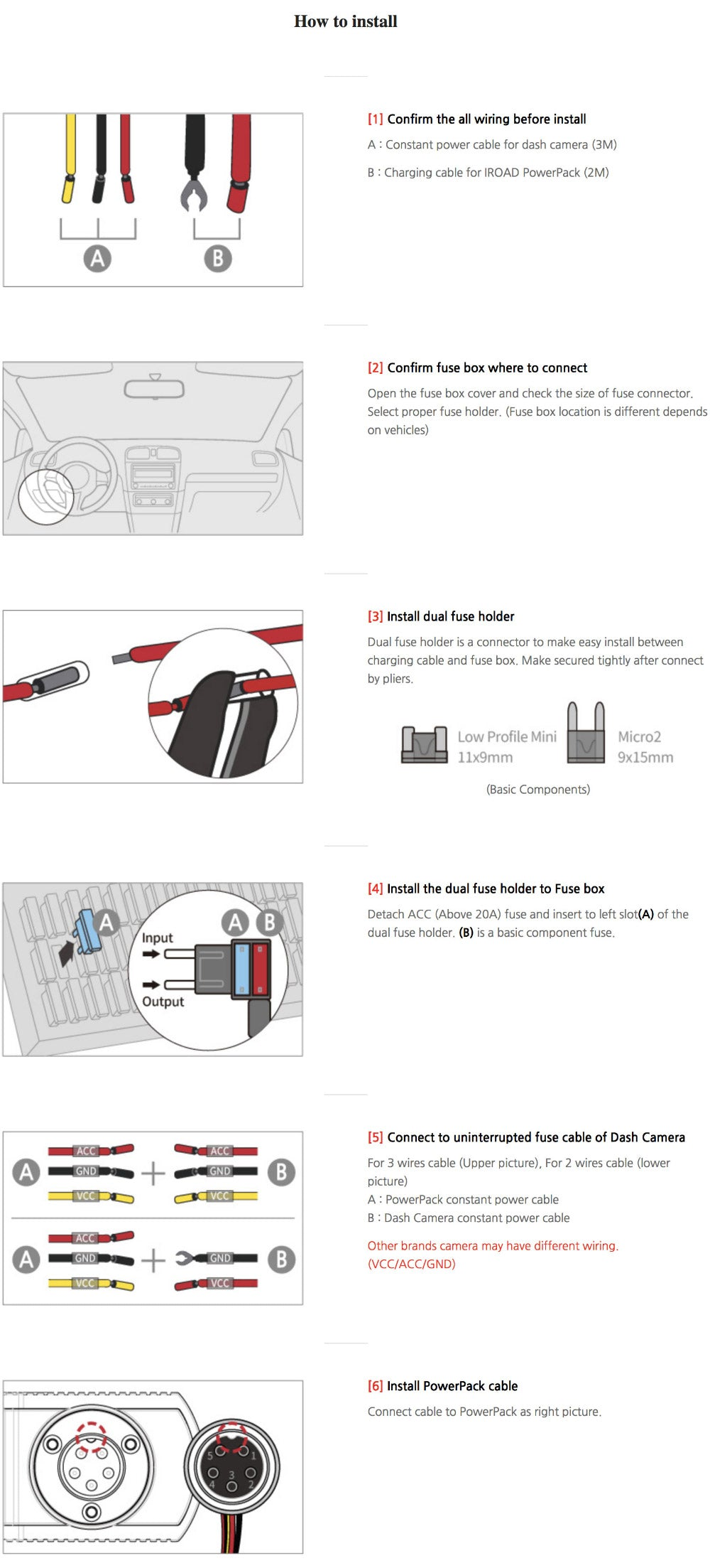 iroad power pack how to install