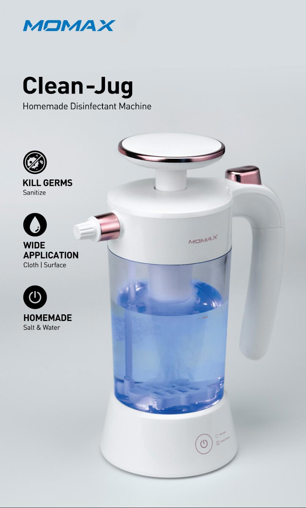 momax clean jug homemade disinfectant machine