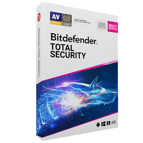 Bitdefender Total Security 2020 全方位防毒軟件 (5台設備)