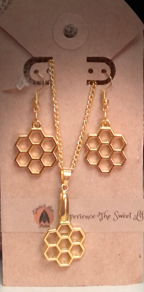 Abeja Necklace & Earring Set - The Beepothekere Shop by Linda's Bee Farm, LLC