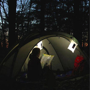 Inflatable LED Solar Power Foldable Tent Camping Light Outdoor Emergency Lamp