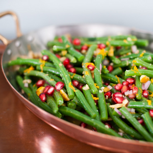 green beans vinaigrette with chestnuts