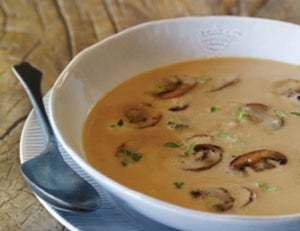Classic Chestnut Soup with Marsala Mushrooms