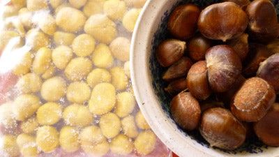 Frozen and peeled fresh chestnuts from Chestnut Charlie's