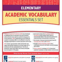 Velázquezz Elementary Academic Vocabulary Essential Set - Tigre