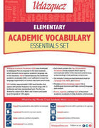 Velázquezz Elementary Academic Vocabulary Essential Set - Hausa