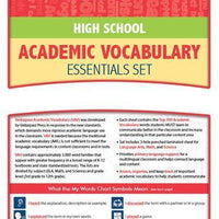 Velázquez High School Academic Vocabulary Common Core Essential Set - Burmese