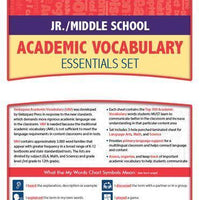 Velázquez Jr./Middle School Academic Vocabulary Common Core Essential Set - Hindi