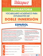 Velázquez Vocabulario Académico Para Estudiantes de Doble Inmersión - Preparatoria (Spanish)