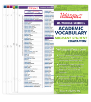 Velázquez Jr./Middle School Academic Vocabulary Migrant Student Companion Set - Spanish