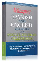 Velázquez Spanish and English Word to Word Dictionary for Social Studies